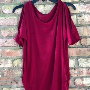 Red Maternity Shirt